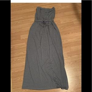 Cynthia Rowley striped long maxi strapless dres xs